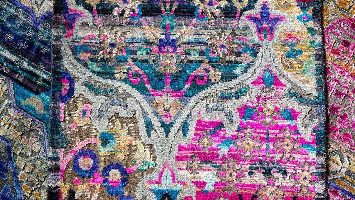 tapis soie Jaipur perse esprit cabana