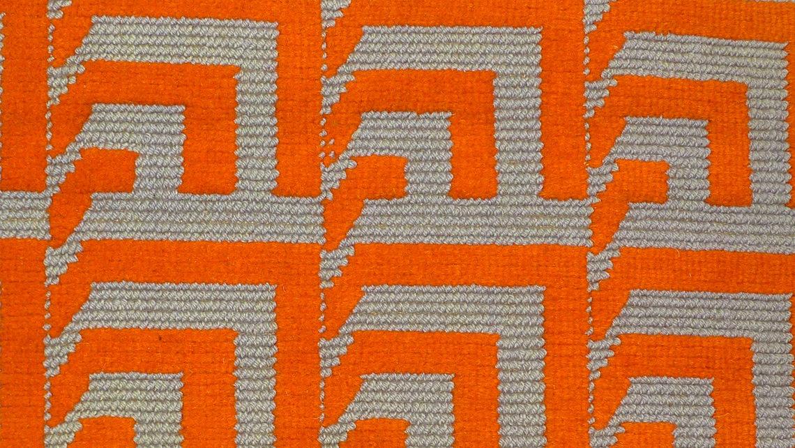 moquette structures et graphique orange