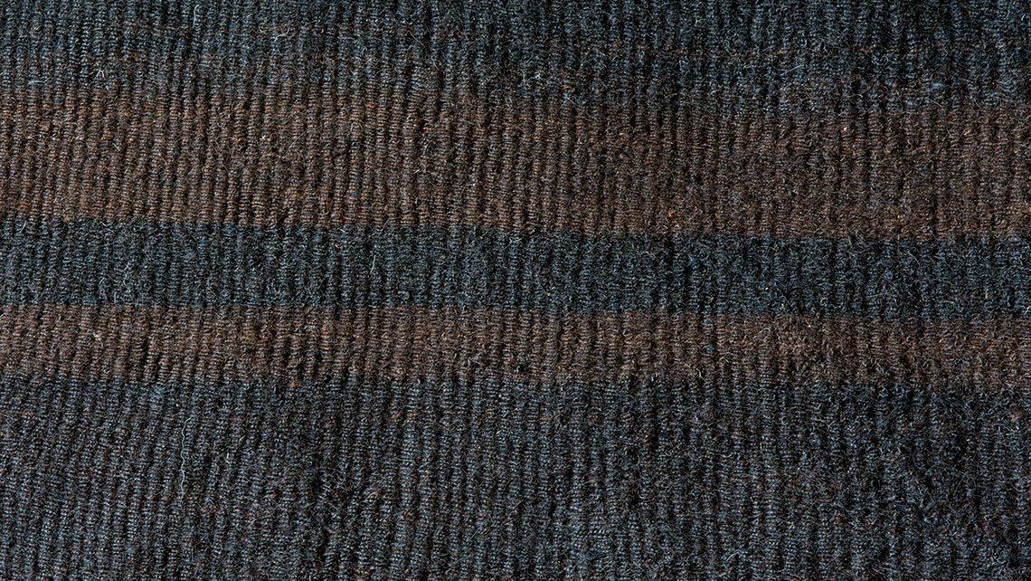 kilim laine noir et marron codimat