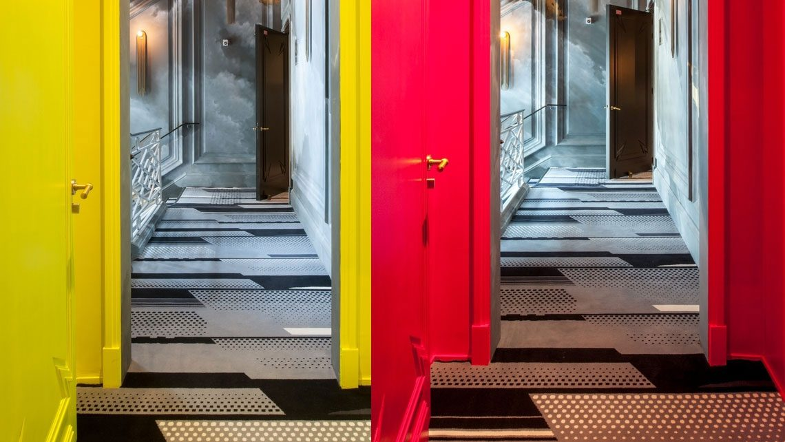 tapis d'escalier couloir hotel nolinski Codimat