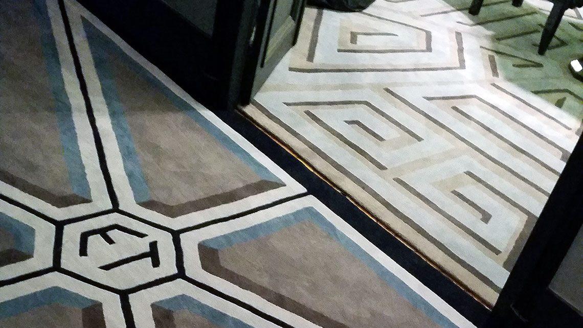 tapis motifs labyrinthe