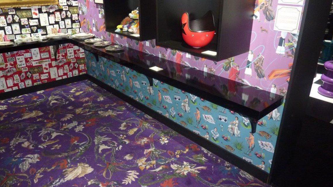 Moquette Codimat jet d'encre espace inspiration maison et objets 2016