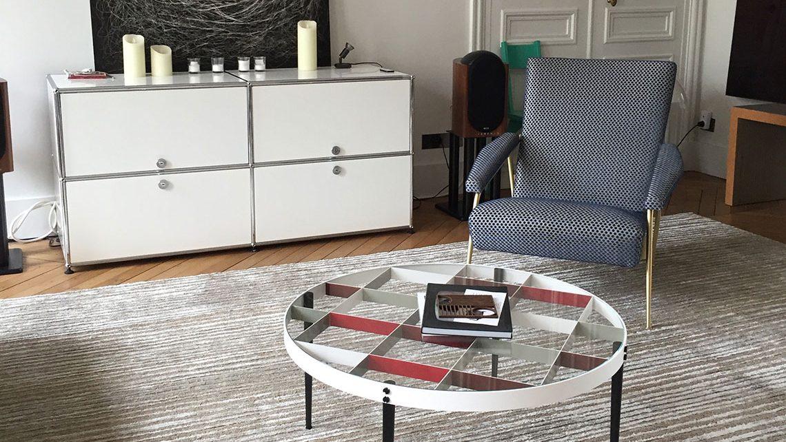 """Grand tapis beige Codimat salon Asseyons-nous"""""""