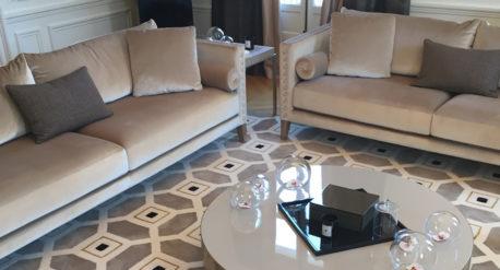 tapis Codimat gris et ecru - décorateur Nicolas de gouvray