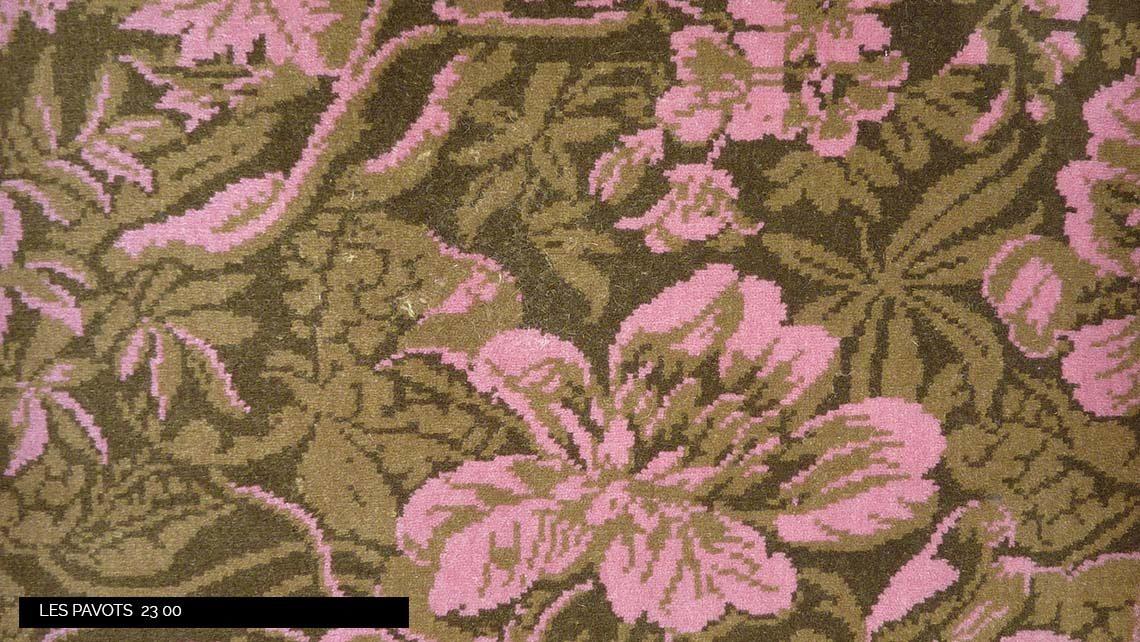 moquette motif fleurs