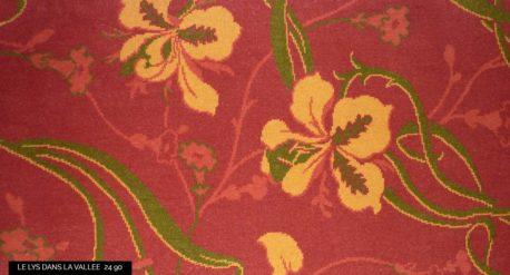 moquette motif fleurs Iris jaune
