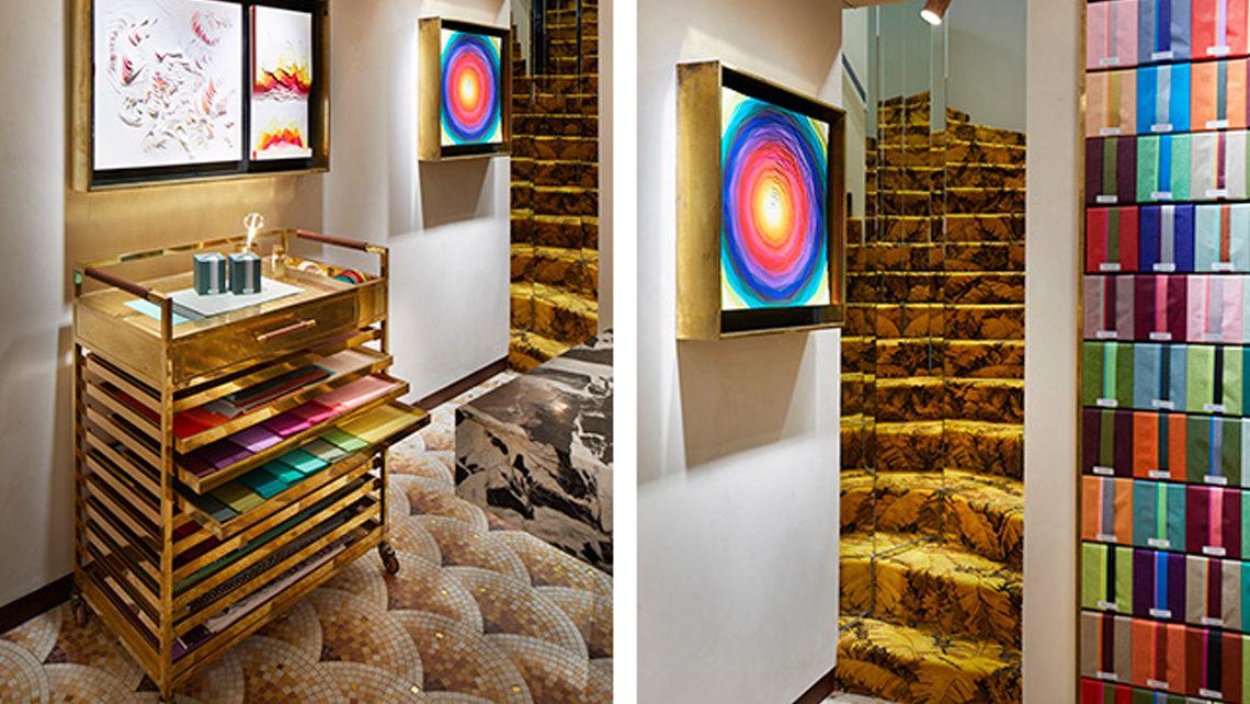 maison parfum diptyque tapis escalier intérieur Codimat