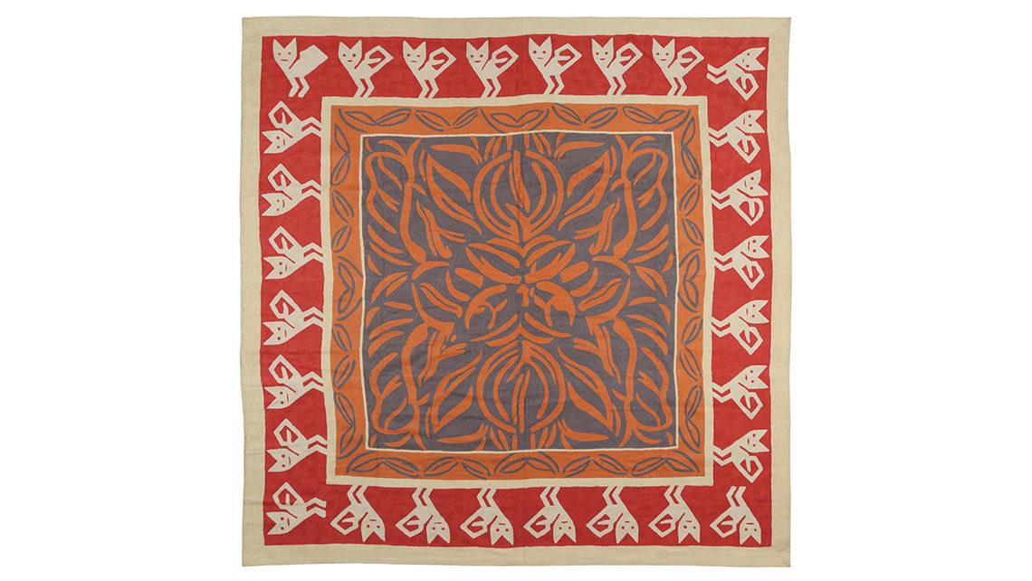 tapis rouge et ivoire codimat