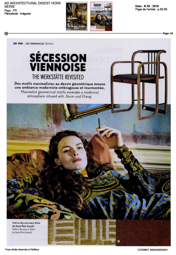 article secession vienoise tapis codimat