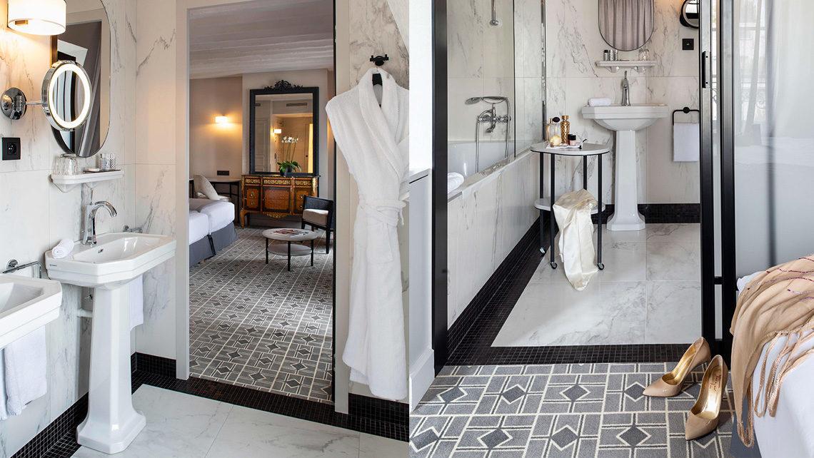 hotel Lenox paris salle de bain