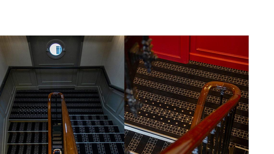hotel Lenox Escalier moquette Codimat