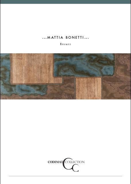 brochure Mattia Bonetti x Codimat : tapis design