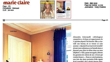 article Le coin fétiche d'Alexandra Golovanoff
