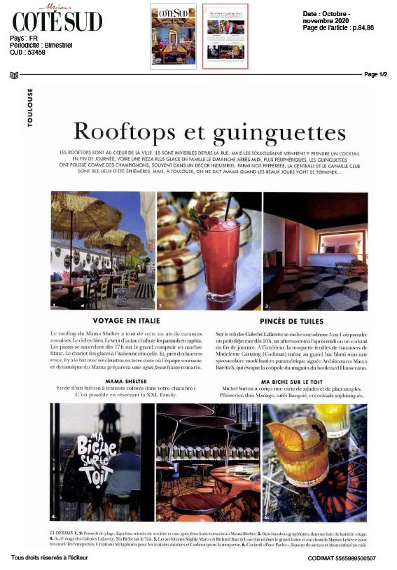 Rooftops et guinguettes