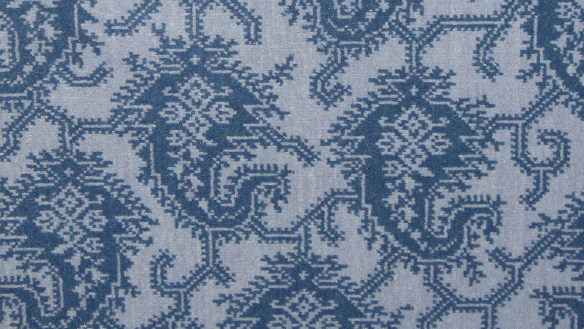 motif cachemire bleu