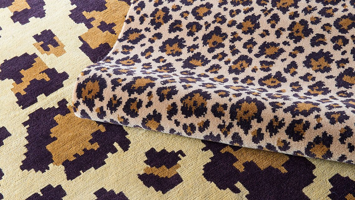 leopard castaing brun et beige