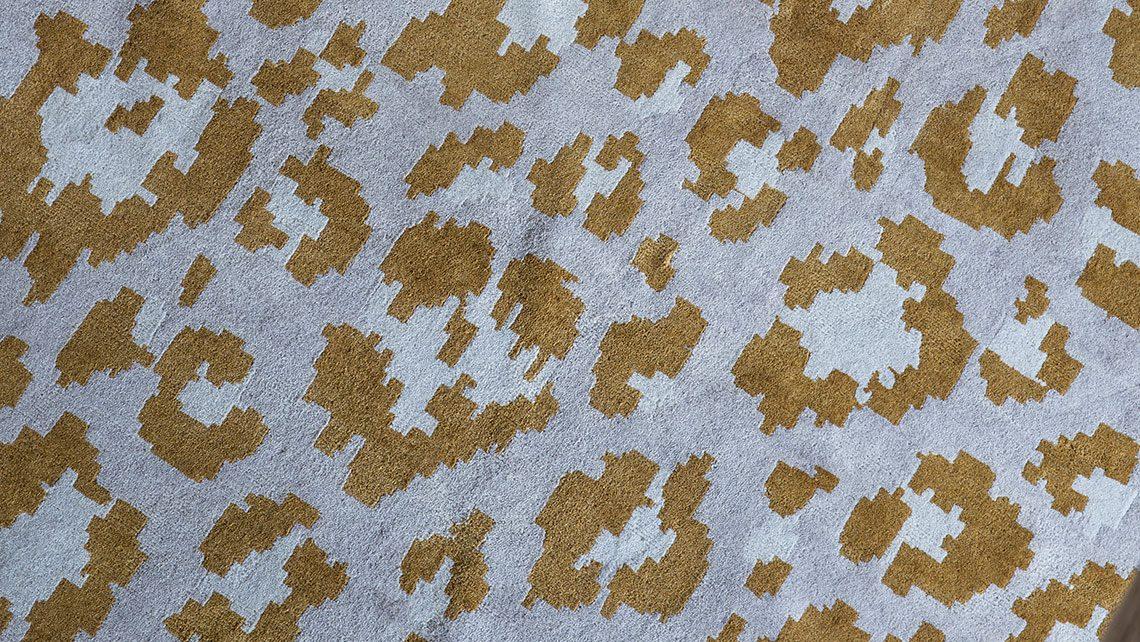 leoprad castaing bleu dore codimat