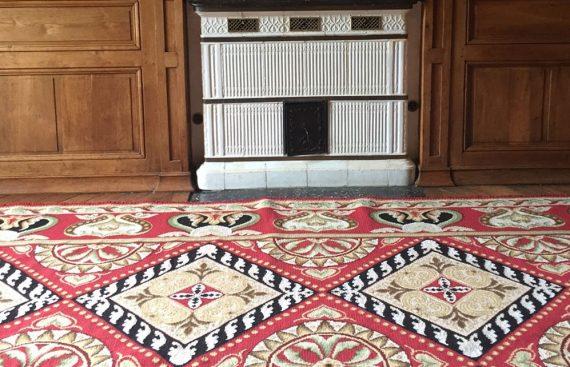 tapis point portuguais rouge codimat