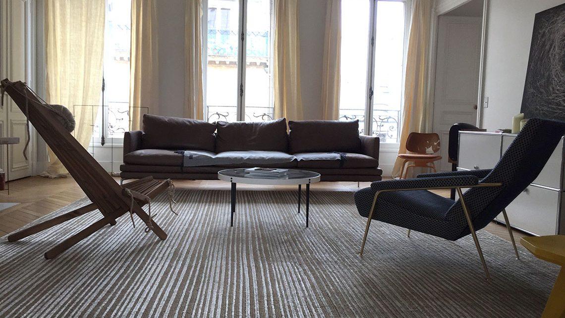 tapis Codimat rayé en laine boutique Asseyons-nous Paris