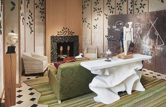 Ad intérieurs - Le salon brodé couture.