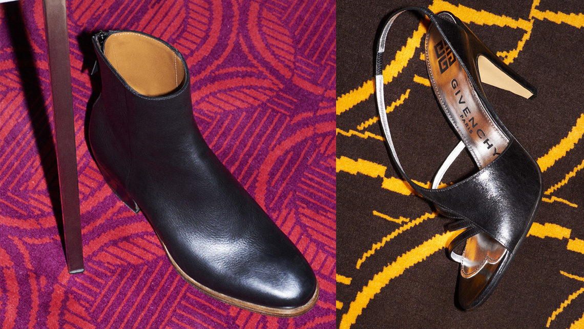 chaussures Givenchy sur moquette Codimat