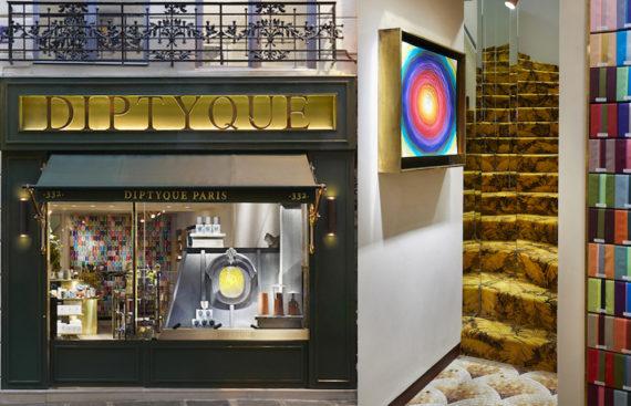 Facade boutique Diptyque rue saint Honoré