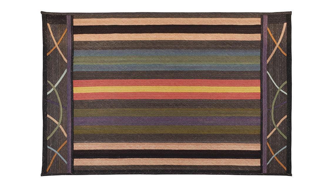 tapis aux motifs de lignes graphiques codimat