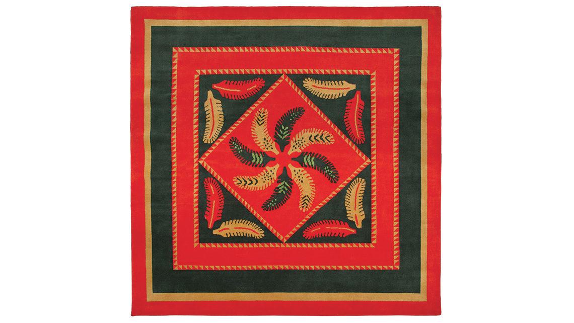 tapis rouge noue main népalais codimat