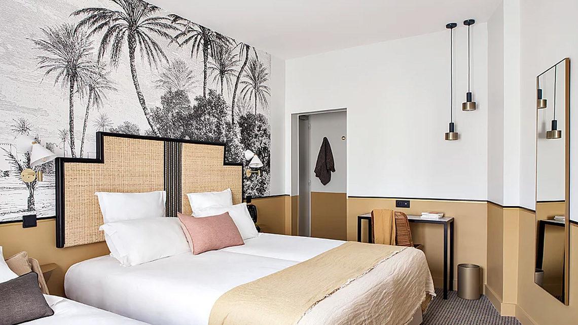 chambre hotel Doisy Etoile paris - moquette graphique Codimat