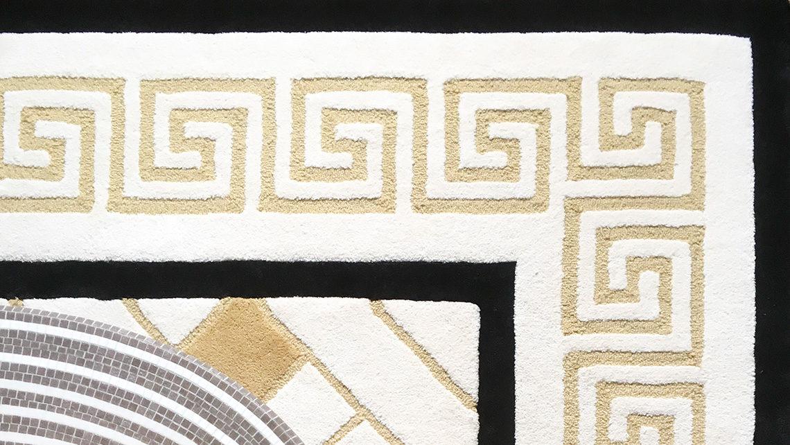 Tapis Codimat sur mesure détail - motif frise grecque