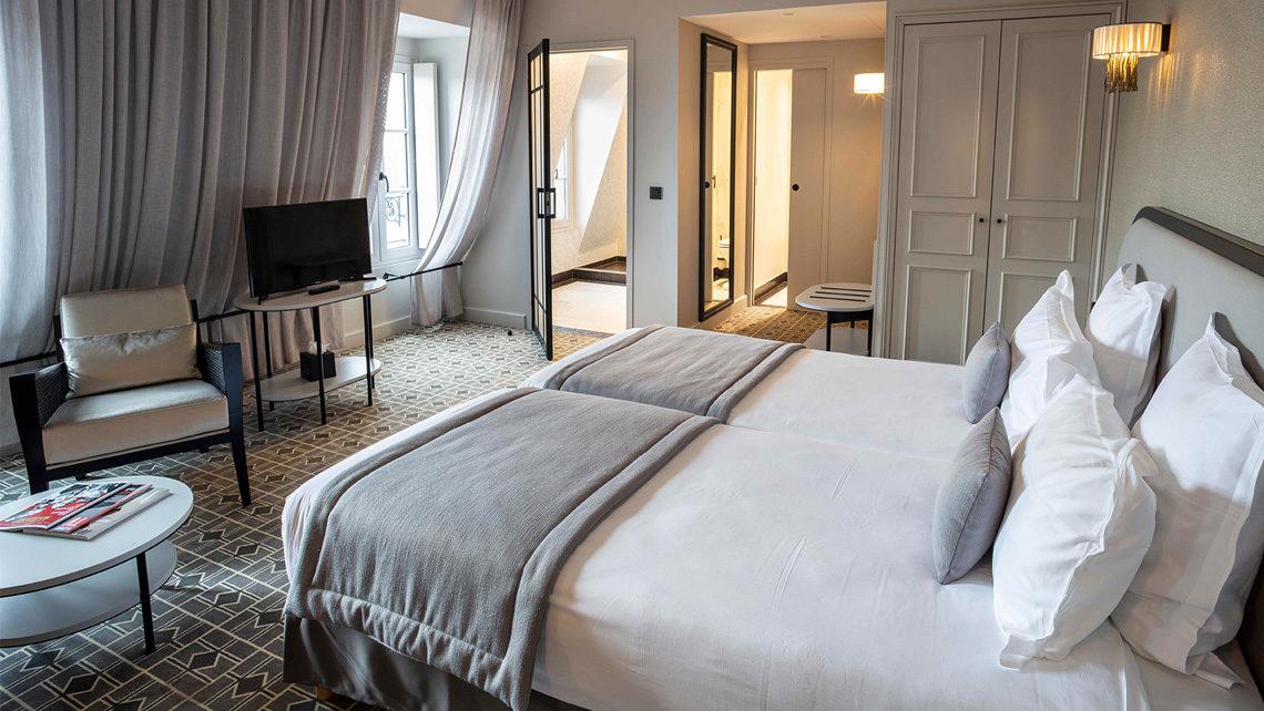 Hotel Lenox Paris chambre suite moquette Codimat