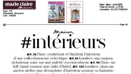 article : appartement parisien de Safia Bendali