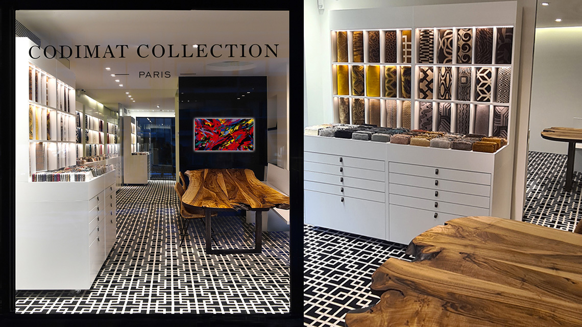 showroom codimat collection bruxelles
