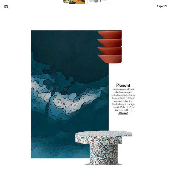 "Tapis ""Océan"" collection Fluid, tufté main design Pernille Picherit"